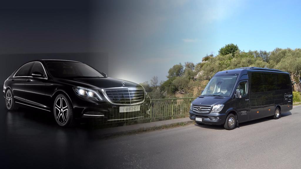 Noleggio pullmini e NCC a Como, Varese e Provincia con Mercedes Classe S e Mercedes Sprinter